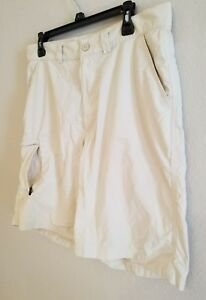Under Armour Golf 'Speith' Performance Rip Stop Nylon Shorts Sz 34 Color Natural