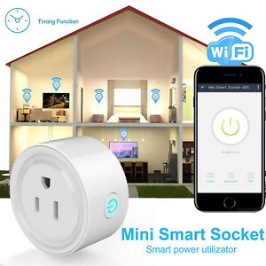 US Plug Smart Socket WiFi Wireless Mini Power Switch Remote Control Timer Outlet