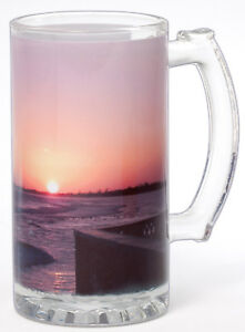 Personalized Subli-Glass Beer Mug Stein- New Year- Personalize w/Text/Image/Logo