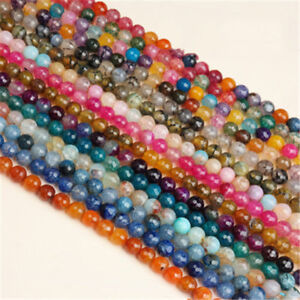 Lot Charm Facted Cracked Crystal Glass Gemstone Bead Loose Bead Jewelry Finding $2.28