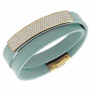Swarovski Vio Cielo Leather Bracelet 5120641