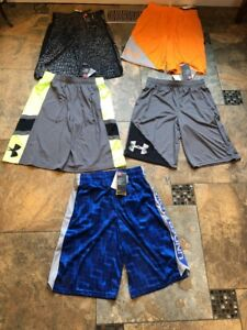 Lot Of New Boys Under Armour Shorts-size Large