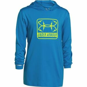Under Armour Big Boys' UA Iso-Chill Element Hoodie Youth Medium Pool