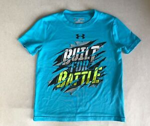 Boy's Under Armour UA Loose fit 'Built for Battle' T Shirt Top XS XSmall Youth