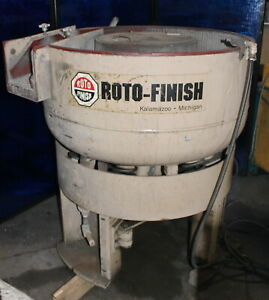 4 Cubic Feet Roto Finish G400 Vibratory Tumbler Deburring Media Finishing Bowl