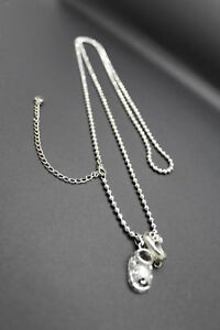 14k 32.2GRAMS SOLID WHITE GOLD NECKLEACE CHAIN PLUS CHARMS BOY & GIRL SHOES 30