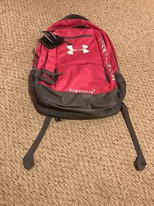 New Under Armour Pink Team Hustle II Backpack Team School Book Bag