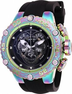 25429 Invicta Subaqua Noma VI Swiss Quartz Chron Iridescent Silicone Strap Watch