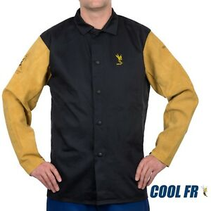 Weldas® COOL FR™ WeldingFire RetardantDielectric Jacket - Cotton and Leather