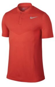 NIKE GOLF MM Fly Dri Fit Zonal Cooling Knit Max Orange SS Polo Shirt Mens L XL