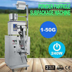 1-50g Powder Dispenser Auto Weighing & Filling Machine for Cereal Grains Tea
