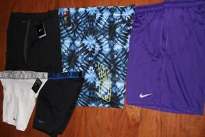 LOT OF 5 MENS UNDER ARMOUR SC BASKETBALL SHORTS NIKE RUNNING COMPRESSION XXL NWT