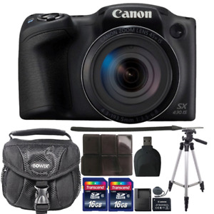 Canon PowerShot SX430 IS 20MP Digital Camera with Accessory Bundle $229.99