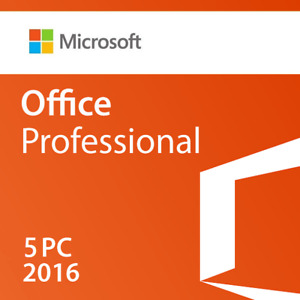 MICROSOFT OFFICE 2016 PROFESSIONAL  5 PC  (RETAIL SEALED)