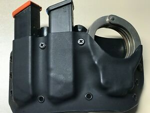 Fits Glock .409mm Double mag and Handcuff Pouch