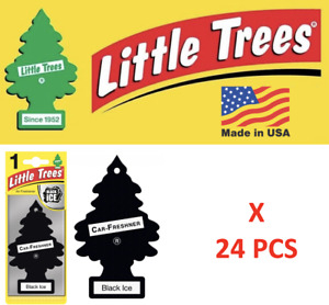 Black Ice Freshener Little Trees 10155  Air Little Tree MADE IN USA