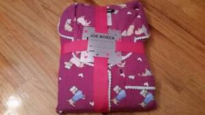 Joe Boxer Women's Flannel Pajama Shirt & Pants - Dachshund SMALL SIZE S