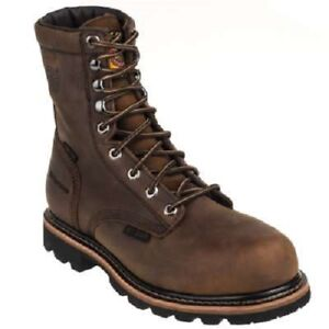 Cowboy Boots JUSTIN Pulley Brown Lace-up Workboot item #WK630
