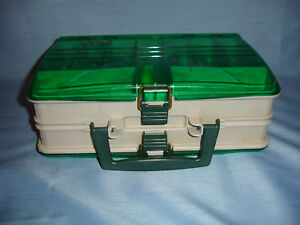 PLANO 1120 Double Sided Satchel Tackle Fishing Box Full Of Vintage