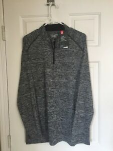 UNDER ARMOUR XL TALL GRAY LOOSE 14 ZIP PULLOVER JACKET TOP NEW$85