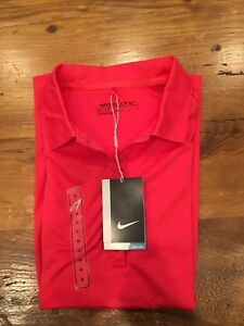 Womens Nike Golf Polo Dry Fit Short Sleeve Shirt - Size Medium
