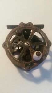 Old Vintage Metal Skeleton Fly Fishing Reel Made in Japan