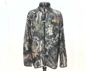 NWT UNDER ARMOUR Zip Jacket ColdGear Scent Mossy Oak 1284459-278 Loose Fit XL