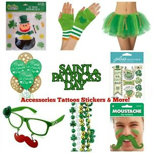 St Patrick's Day Favors ☘️ Stickers Gloves Tattoos and More! ☘️ Buy TWO