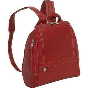 Le Donne Leather U Zip Mid Size BackpackPurse