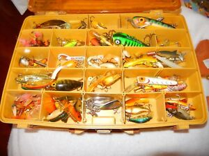 Vintage Plano Tackle Box Full of Old Lures Unsorted As Found In Local Estate