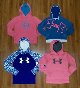 Gir's Lot 4 UNDER ARMOUR Coldgear STORM Pullover Hoodie Youth Medium Loose YMD