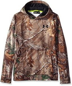 Under Armour Boys' Icon Camo Hoodie Realtree Ap-XtraVelocity Youth Small