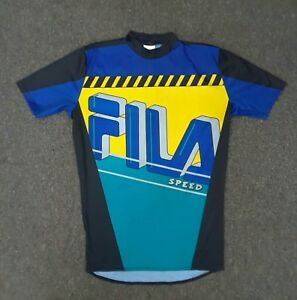 Vintage 90s Fila Speed Made in USA Cycling t Shirt Sport Racing sz XL 80s