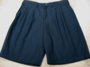 Mens Navy CALLAWAY GOLF Pleated Shorts 34