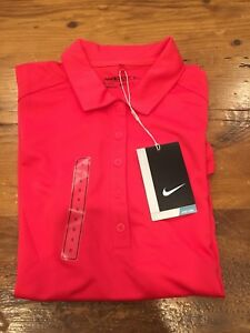 Womens Nike Golf Polo Dry Fit Short Sleeve Shirt - Size Small