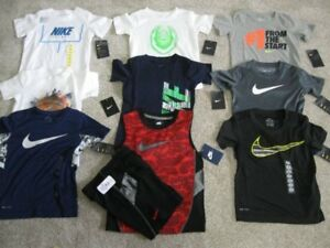 NWT Lot of 10 NIKE Dri Fit Shirts Boys Size 4 Short Sleeve T-Shirt Shorts New A