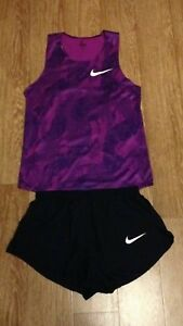 Nike Pro Elite 2015 Sponored mens singlet and shorts track and field rare