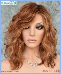 RADIANT BEAUTY GABOR WIG COLOR GL29-31SS RUSTY AUBURN LACE FRONT MONO PART