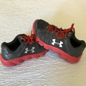 Under Armour Running Shoes Boys Size 2Y Youth Sneakers Assert 6 Dark Gray