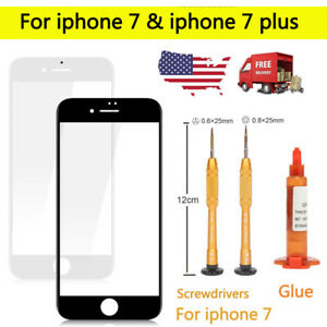 Front Outer Screen Glass Lens Replacement + Tools + UV Glue For iPhone 7 7 plus