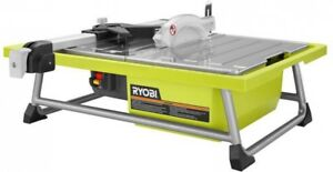 7-In 4.8-Amp Outdoor Portable Lightweight Tabletop Tile Cutter Saw Tool Yellow