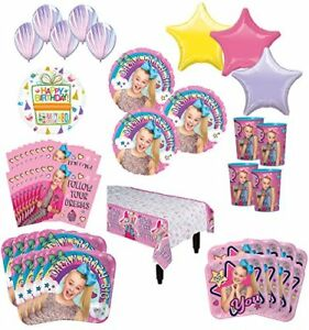 JoJo Siwa Birthday Party Supplies 16 Guest Kit and Balloon Bouquet Decorations $59.99