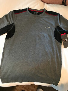 NWT - Champion Duo Dry Fitted Gray shirt - Men's Small