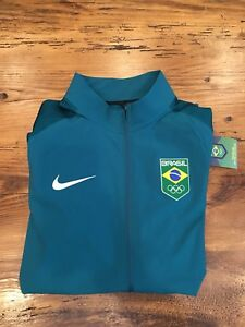 NWT $250 Nike Flex Mens Dry Fit Team Brazil Running Jacket Teal Green Size Large