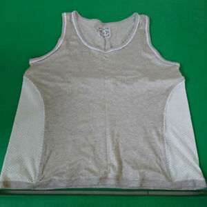CHANEL Tank Top Running Shirt Mesh Gray Size 46 Shipping Free Japan
