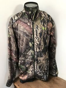 Mens UNDER ARMOUR Scent Control 3XL Zip Up Camo Jacket NWT Cold Gear Technology