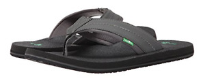 Men's Sanuk Beer Cozy 2 Flip Flop Three Color Options FREE SHIPPING