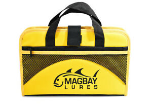 2 Custom 25 Pocket Protective Jig Bags in Yellow by MagBay Lures