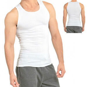 3 6 Packs Mens 100% Cotton Tank Top A Shirt Wife Beater Undershirt Ribbed Muscle $15.95