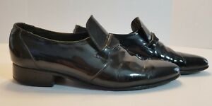 FLORSHEIM DESIGNER COLL BLACK PATENT LEATHER MEN'S TUXEDO DRESS SHOES SIZE 8.5D